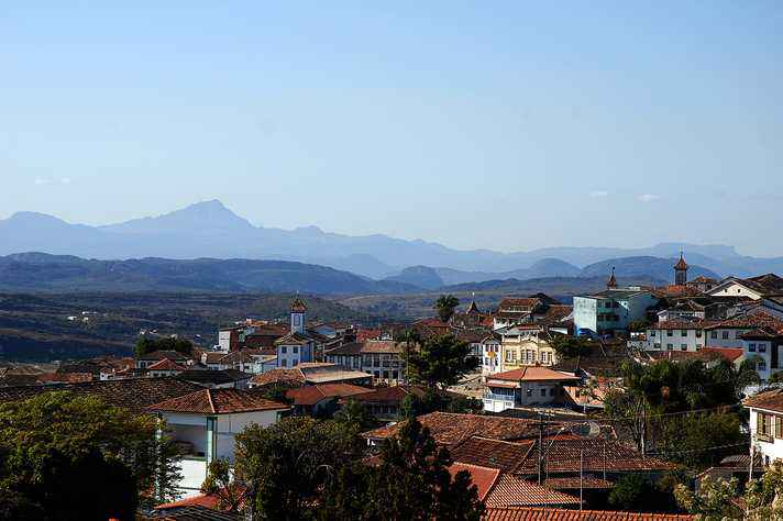 Vista da cidade histórica Diamantina, sede permanente do Seminário de Economia Mineira