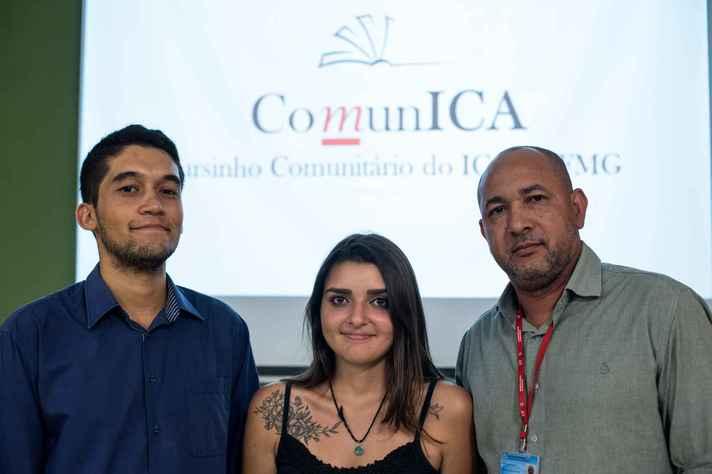 Luiz Henrique Assunção, Isabela Parole e Helder dos Anjos são idealizadores do cursinho, que será oferecido pela segunda vez neste ano