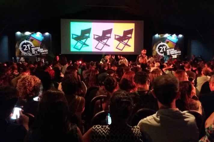 Público em evento do primeiro fim de semana da Mostra de Cinema de Tiradentes