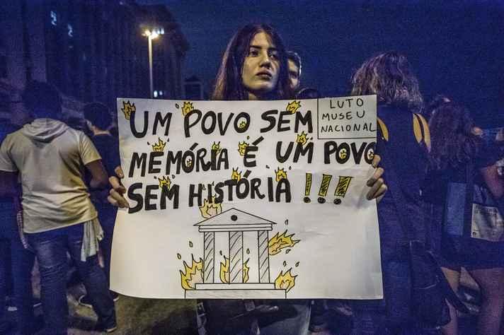 Ato em memória do Museu Nacional, no Rio de Janeiro