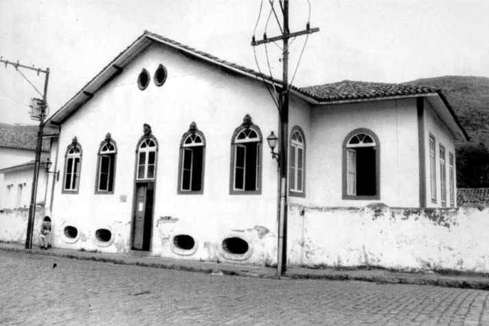 Faculdade Livre de Direito. Antiga sede da Escola de Farmácia, situada na Rua Visconde do Rio Branco, em Ouro Preto, onde foi instalada a Faculdade Livre de Direito em 1892.