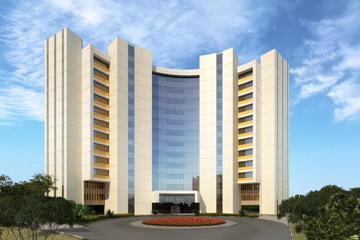 Maquete ilustrativa do novo edifício do BH-Tec