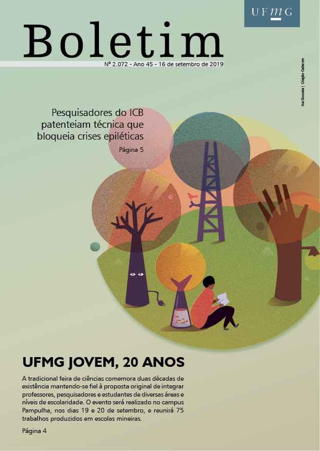 Capa da edição 2.072 do Boletim (criação: Marcelo Lustosa / UFMG)