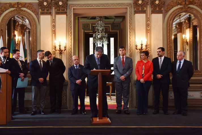Governador Fernando Pimentel assina acordo de cooperação para conversão de multa ambiental em prestação de serviços
