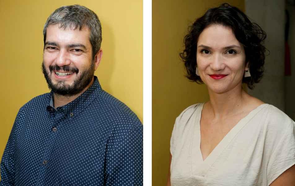 """<p>Coordenadores executivos do Centro de Comunicação (Cedecom)<br><a href=""""http://buscatextual.cnpq.br/buscatextual/visualizacv.do?id=K4728042E4"""" target=""""_blank"""">Marcílio Lana</a>, jornalista<br><a href=""""http://buscatextual.cnpq.br/buscatextual/visualizacv.do?id=K4164456U7"""" target=""""_blank"""">Tacyana Arce</a>, jornalista</p>"""