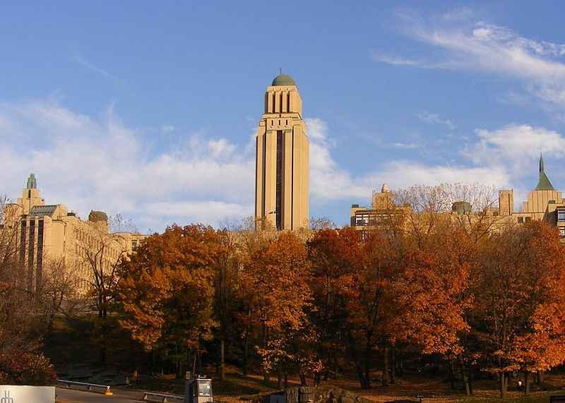 Vista da Universidade de Montreal