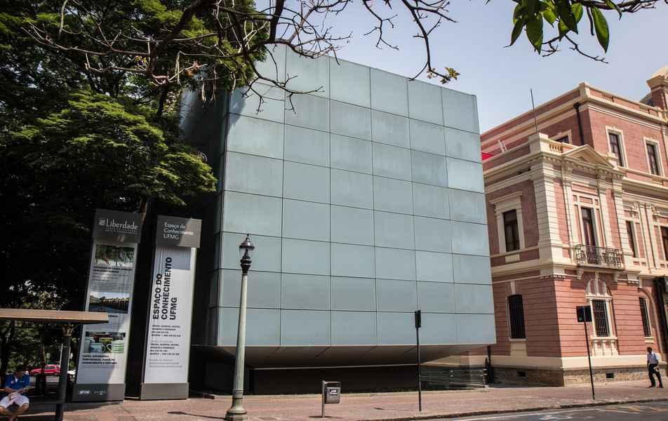 Espaço do Conhecimento da UFMG: modernidade com fachada digital