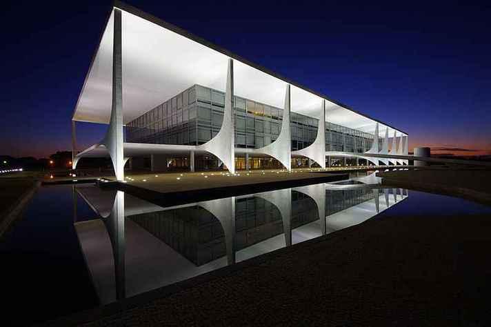 Palácio do Planalto, em Brasília, sede do governo federal brasileiro