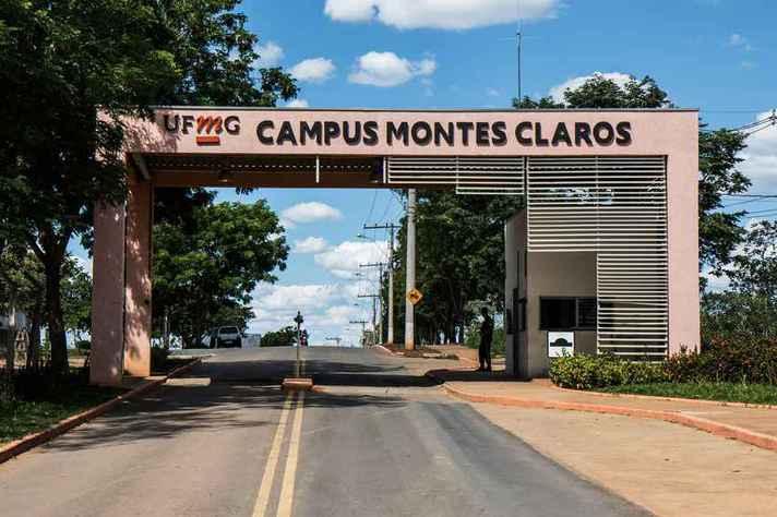 Entrada do campus da UFMG em Montes Claros: avanço à etapa 1 é respaldado por minucioso monitoramento do cenário epidemiológico
