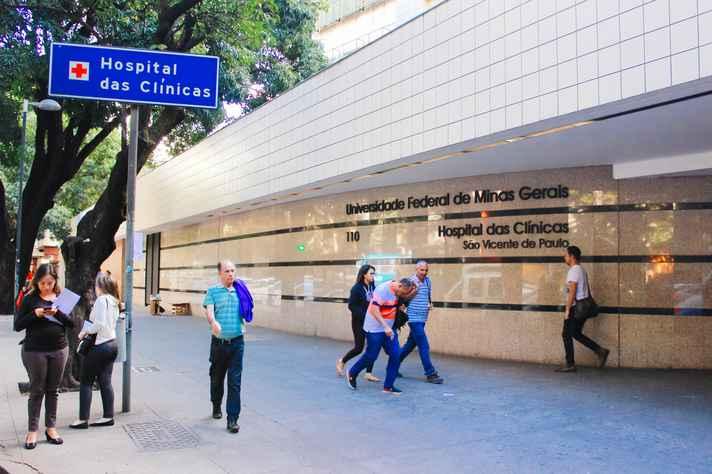 Fachada do Hospital das Clínicas, referência na rede pública de saúde em patologias de média e alta complexidade