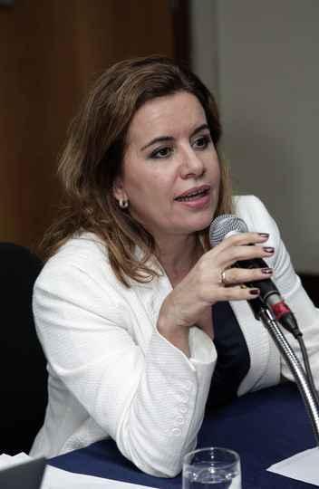 A vice-reitora da UFMG Sandra Goulart Almeida, presidente do conselho científico do Conferência