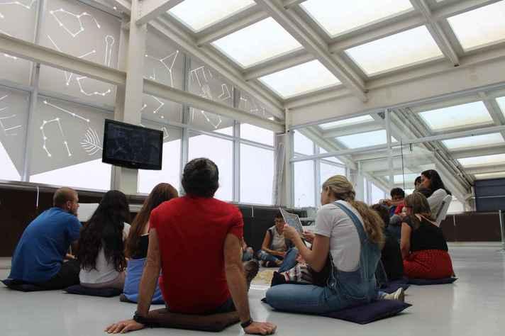 Contação de história no museu que integra o Circuito Liberdade