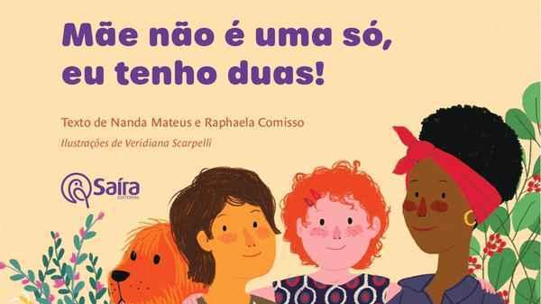 Livro contra com ilustrações de Veridiana Scarpelli