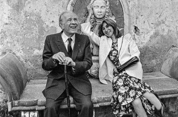 Jorge Luis Borges e María Kodama.
