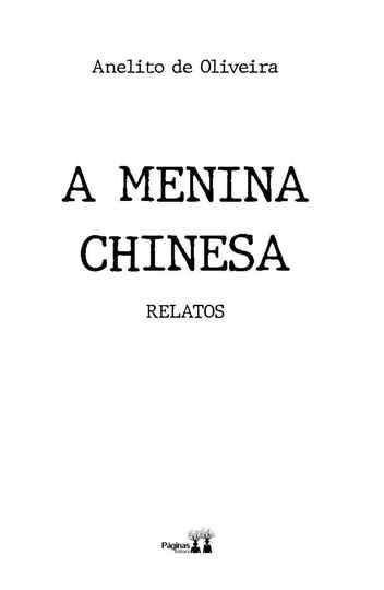 Capa do livro A menina chinesa