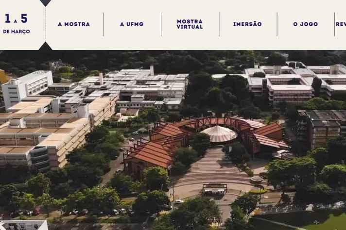 Imagem gerada por sobrevoo de drone sobre o campus Pampulha