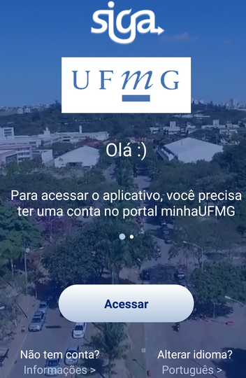 Recorte da tela de login do sistema