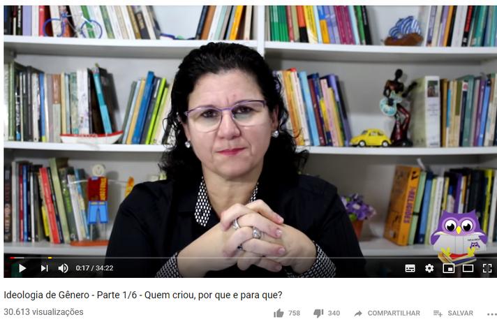 Professora Jimena Furlani é uma das pesquisadores que mantém um canal no Youtube para discutir temas como ideologia de gênero e educação sexual