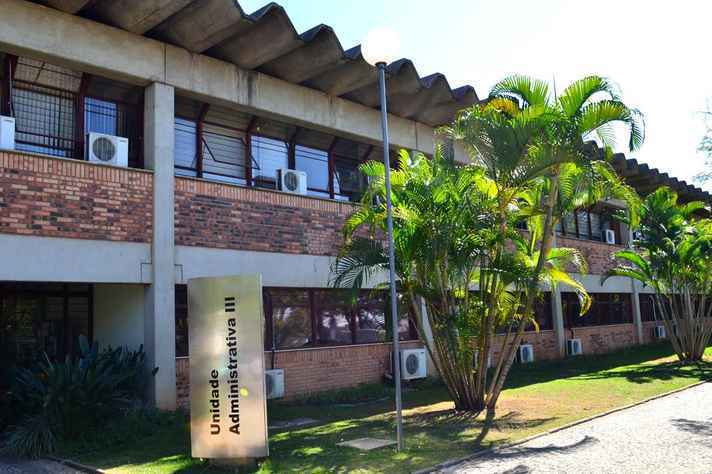 Unidade Administrativa III, no Campus Pampulha da UFMG, onde fica localizado o IEAT