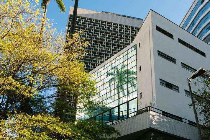 Fachada do prédio que abriga a Faculdade de Direito da UFMG