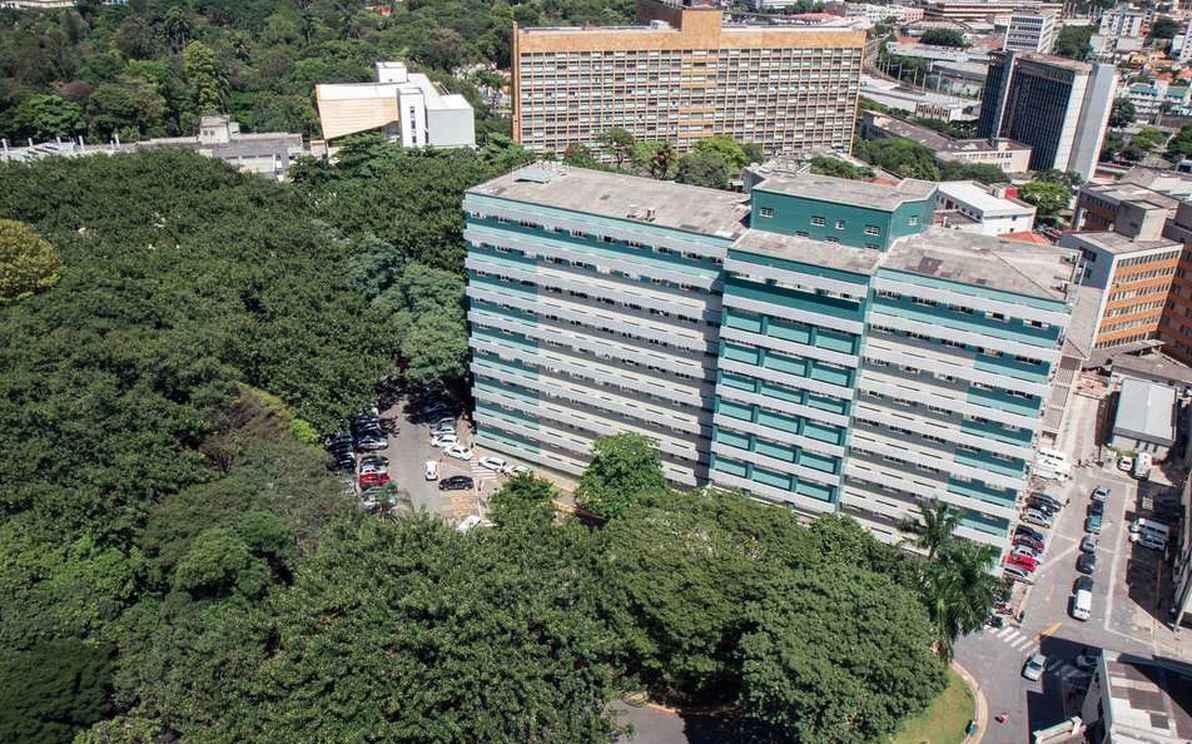 Vista aérea do campus Saúde, que abriga atividades dos cursos avaliados no Enade 2016
