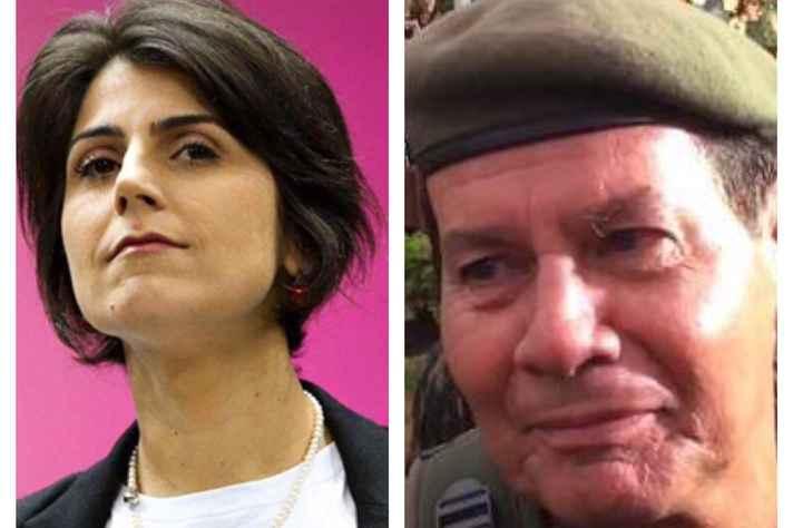 Manuela D'Ávila (PC do B) e General Hamilton Mourão (PRTB)