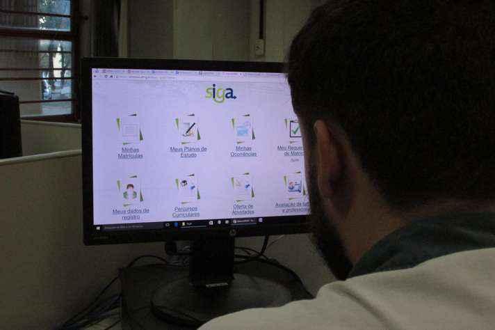 Matrículas devem sere feitas no portal Minha UFMG, utilizando o navegador Mozilla Firefox