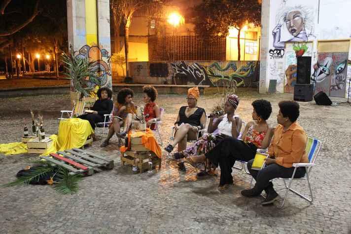 Atividade do projeto Preta Poeta, uma das propostas contempladas na chamada do ano passado