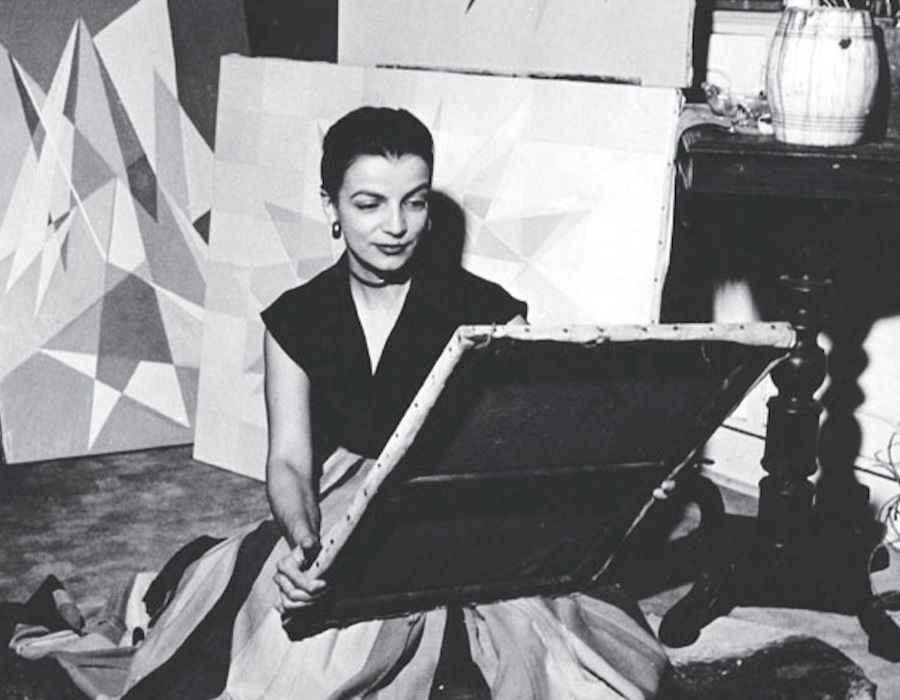 Lygia Clark em 1950.