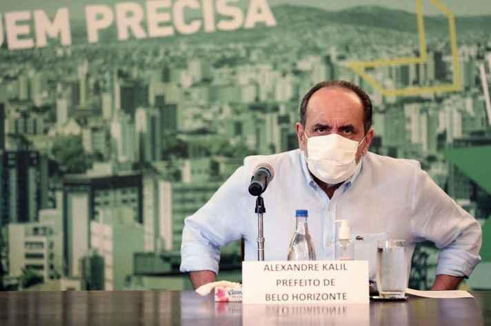 Prefeito Alexandre Kalil anunciou endurecimento das medicas contra a covid-19 na cidade