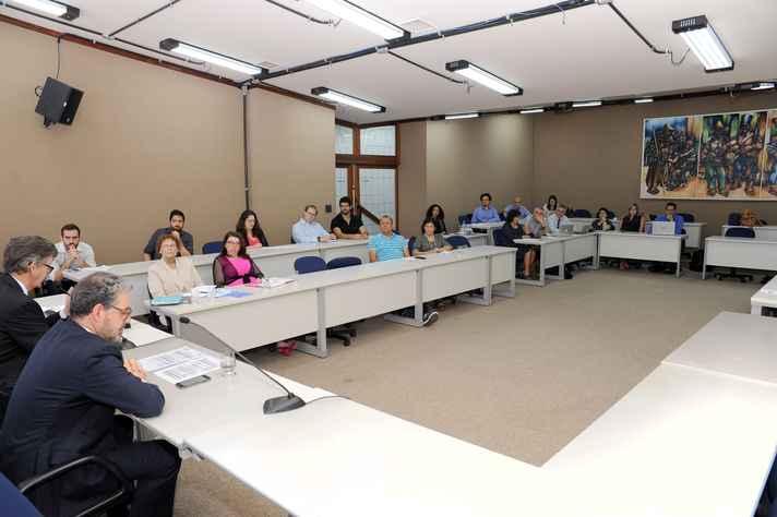 Pesquisadores das duas instituições participaram do primeiro dia de workshop