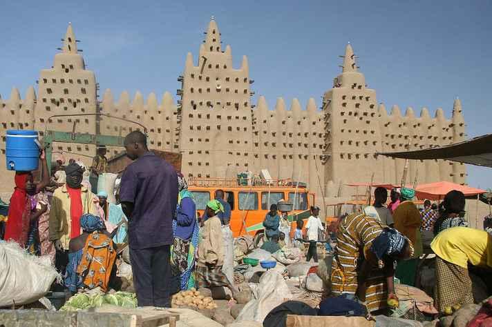 Antiga cidade de Djenné em Mali, declarada Patrimônio da Humanidade pela Unesco