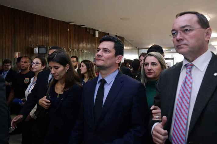 Sérgio Moro, na Câmara dos Deputados, onde entregou o Pacote Anticrime