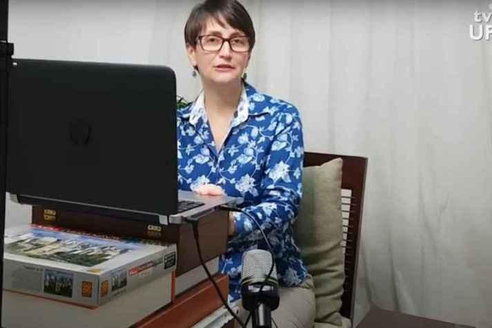 Professora Denise Trombert Oliveira, do Instituto de Ciências Biológicas participou das capacitações para o ERE