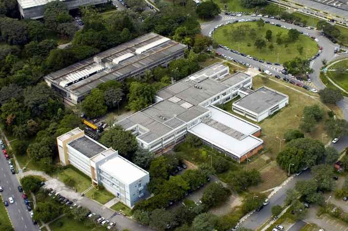 Vista aérea da Cidade Universitária Armando de Salles Oliveira