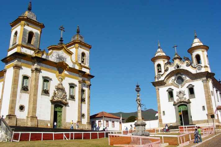 A cidade de Mariana é um dos municípios do Quadrilátero Ferrífero