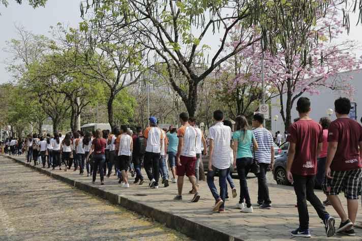 Estudantes circulam pelo campus Pampulha durante o evento do ano passado