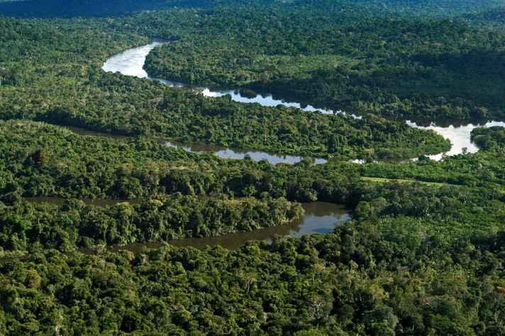 Parte da Floresta Amazônica, no Pará.