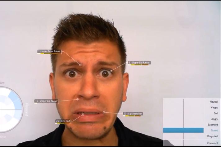 A pesquisa usou o software FaceReader para analisar as expressões faciais dos participantes dante da propaganda eleitoral