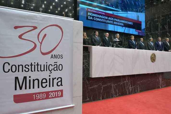 88 parlamentares que elaboraram a Constituição de 1989 foram homenageados na ALMG
