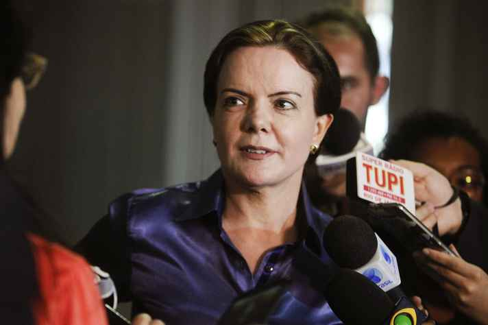 Senadora Gleisi Hoffmann, presidente do PT