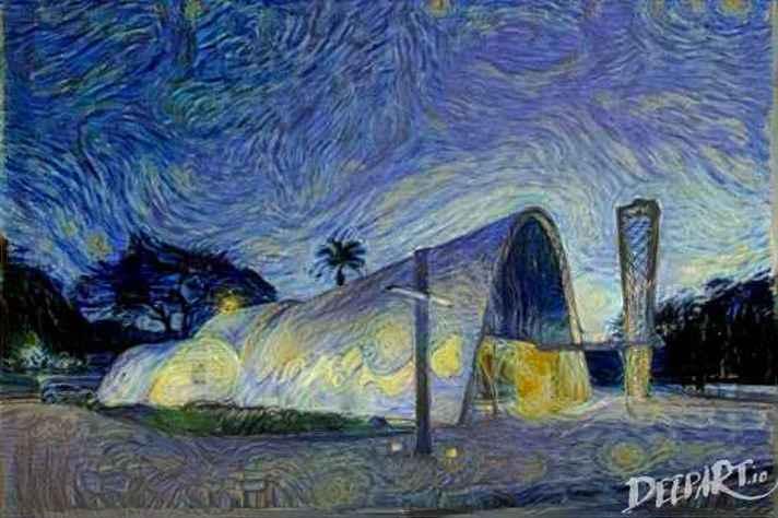 Exemplo de uso das técnicas baseadas em Deep Learning: transformação automática de imagens reais em