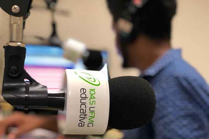 Estúdio da Rádio UFMG Educativa onde o Jornal UFMG era apresentado