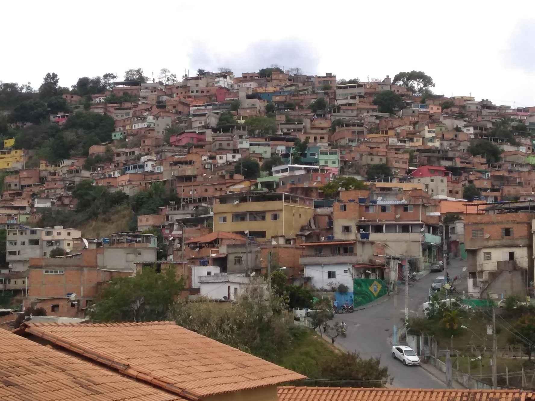 Vista do Aglomerado da Serra, na região centro-sul de Belo Horizonte