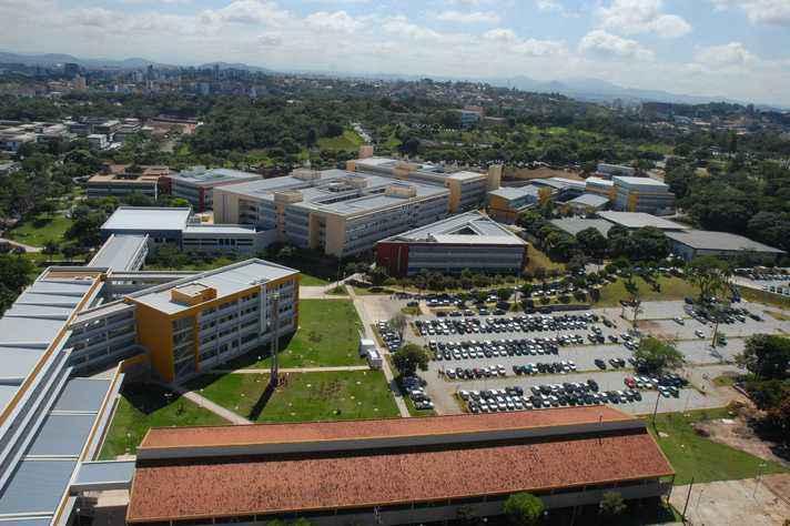 Vista aérea do complexo da Escola de Engenharia que abrigará o evento