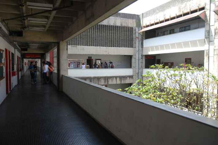 Corredores da Faculdade de Filosofia e Ciências Humanas