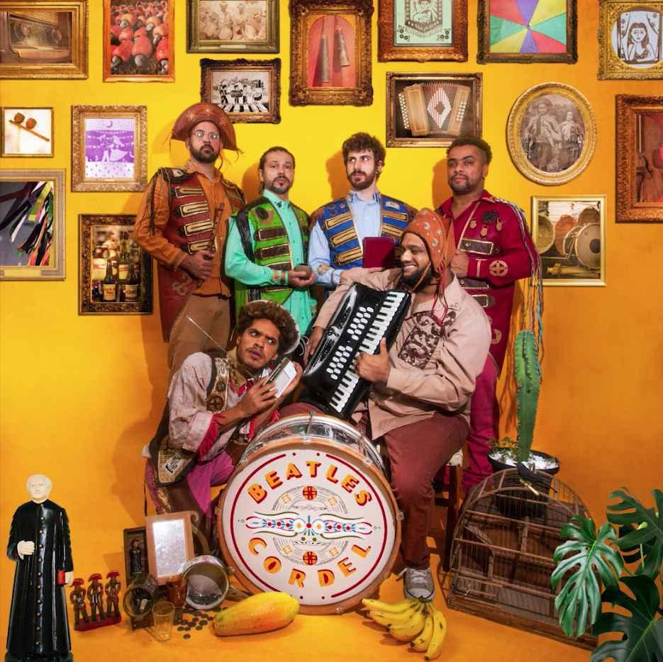 Capa de 'Beatles Cordel', lançado nas plataformas digitais, é inspirada em álbum clássico dos Fab Four