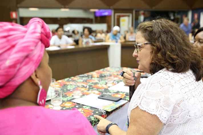 Professora Marlise Matos, durante seminário na Câmara Municipal