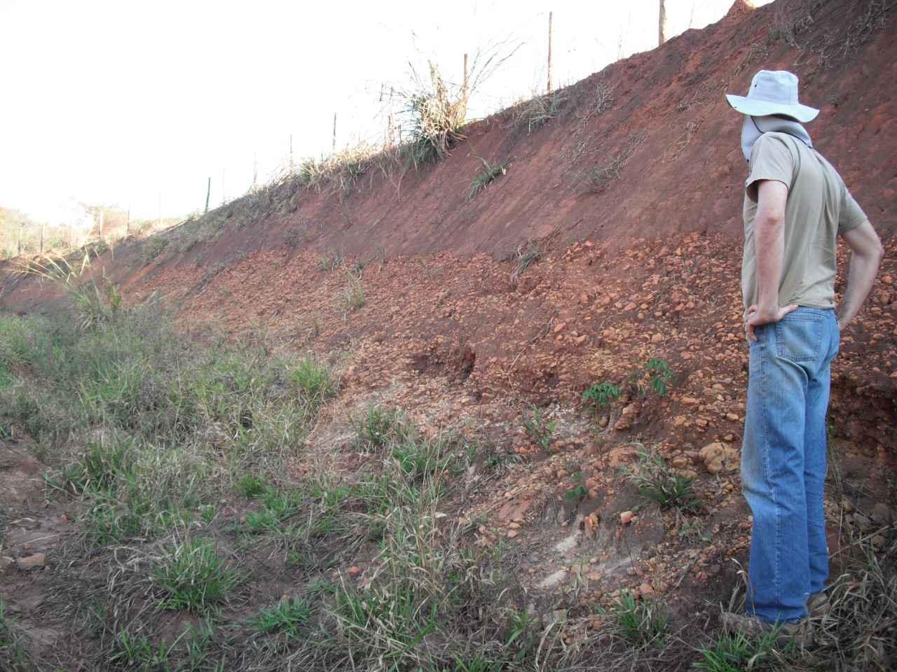 Depósitos de material sedimentar no Rio Paraopeba, na região de Brumadinho
