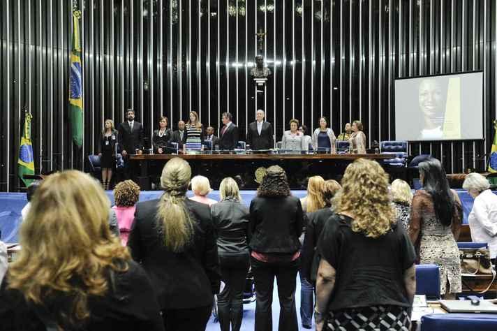Sessão solene do Senado, em 2014, destinada ao lançamento da campanha Mais Mulher na Política, promovida em conjunto com o TSE